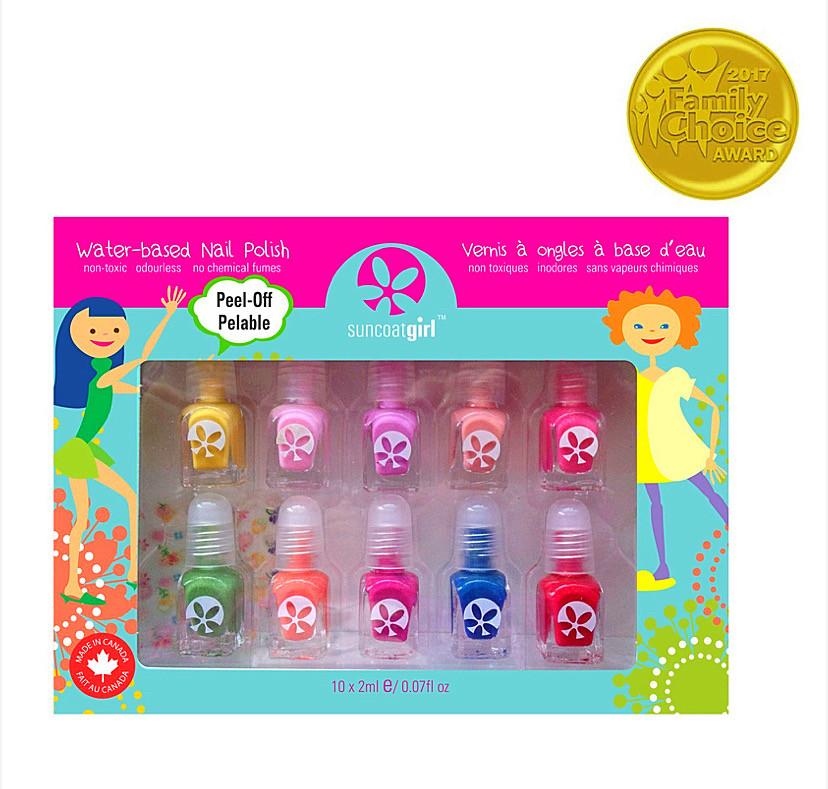 Набор лаков для ногтей на водной основе, палитра для вечеринок, 10 штук (для деток)