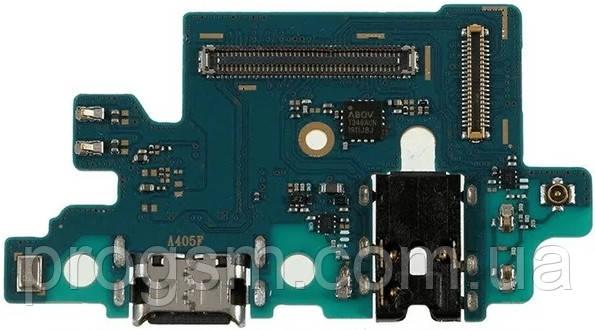 Разъем зарядки Samsung Galaxy A40 SM-A405F (с платкой) Original
