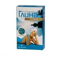 Глина Голубая косметическая 100 г - для нормальной кожи и жирной кожи, осветляет веснушки и пигментные пятна