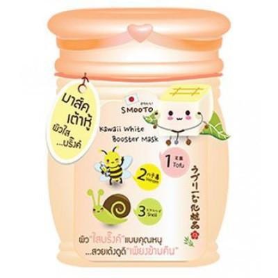Ночная концентрированная маска Smooto с тофу, пчелиным ядом и фильтратом слизи улитки 10 мл