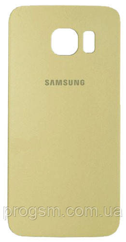 Задняя часть корпуса Samsung Galaxy S6 Edge + G928 (Gold)