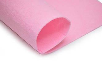 Фетр листовой, розовый, 2мм, 50х40