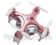 Квадрокоптер нано Cheerson CX-10WD-TX на радиоуправлениис камерой Wi-Fi розовый SKL17-139779