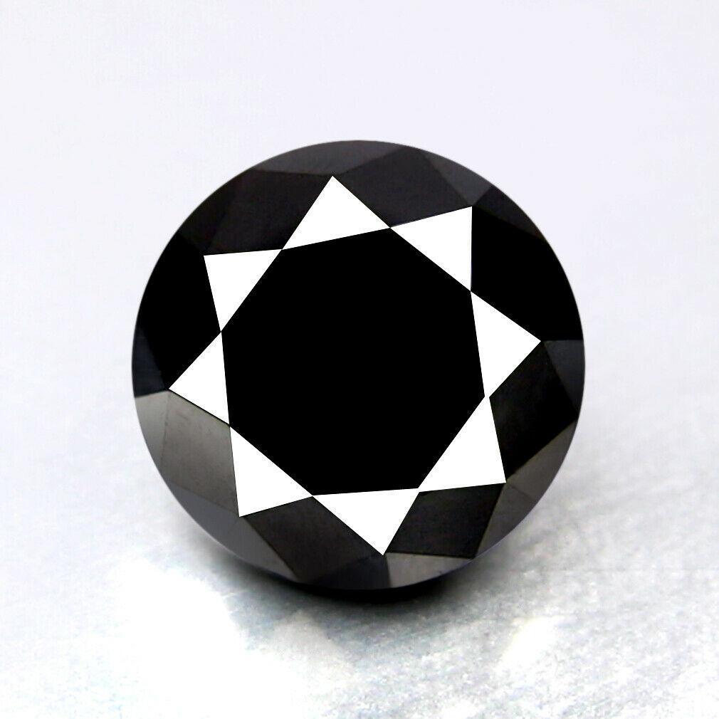 Бриллиант черный 1.5 карат   6,69 х 6,69 х 4,86 мм