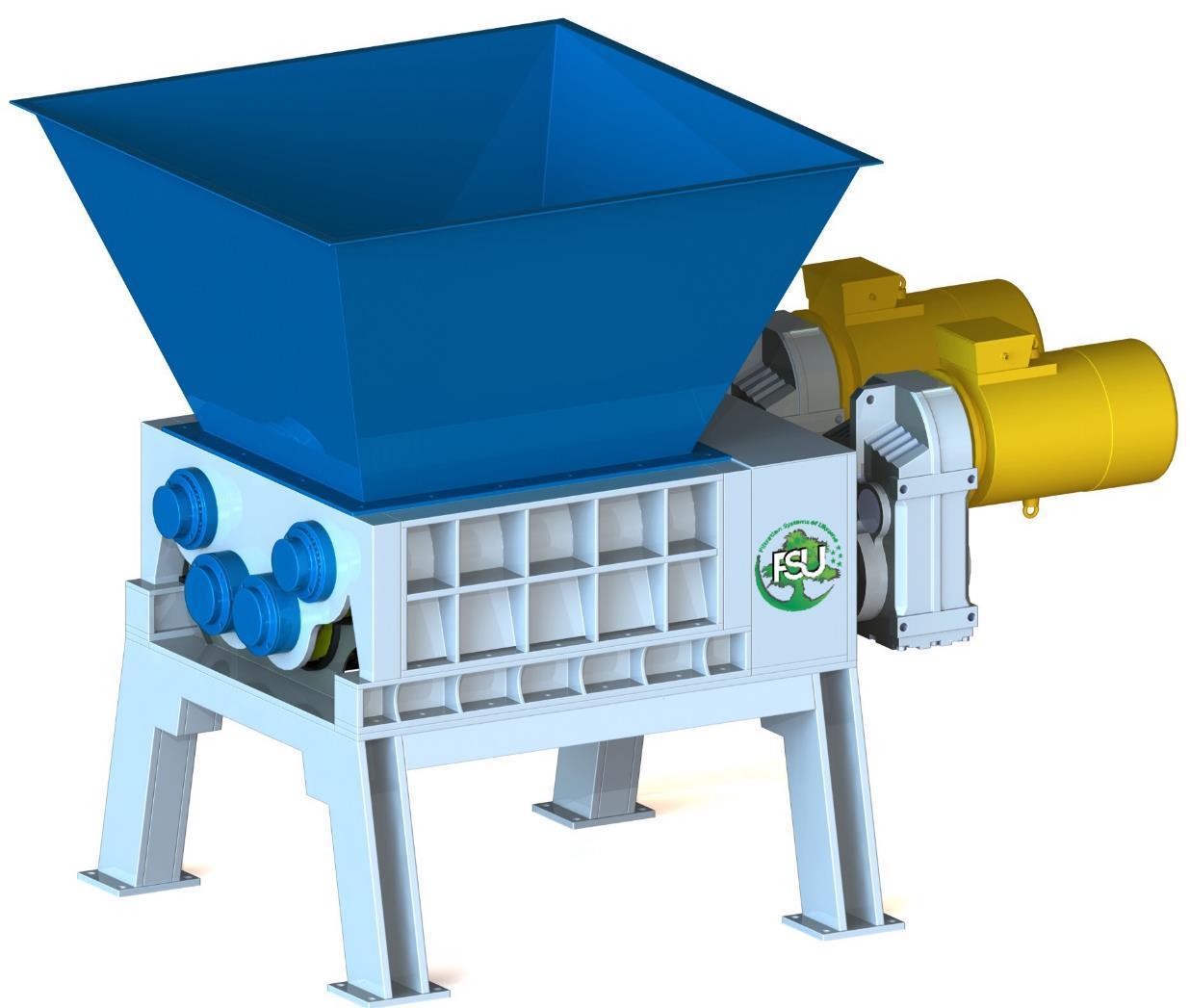 Измельчитель (шредер) для уничтожения пластиковых изделий типа FSU