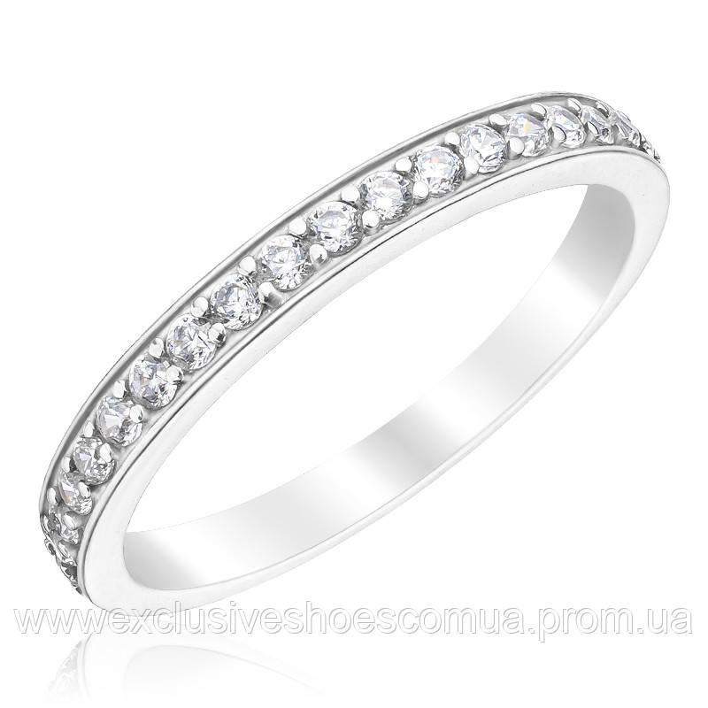 Серебряное кольцо с камнями для предложения