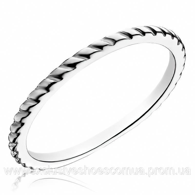 Серебряное кольцо рифленое, без камней