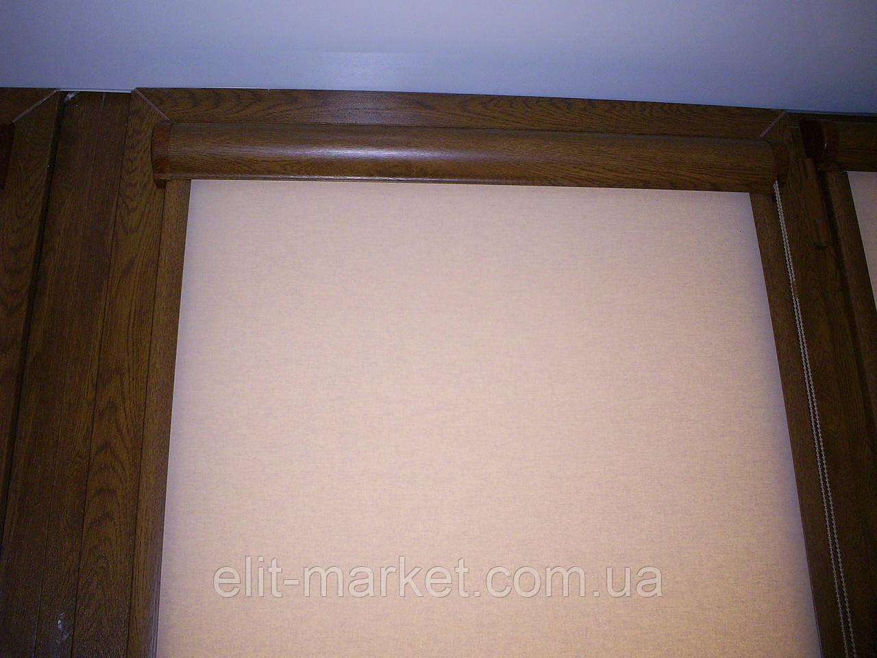 Рулонная штора закрытого типа Махагон