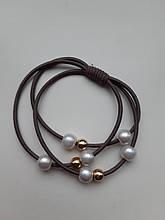 Гумка для волосся з перлами - розмір універсальний