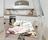 Наклейка 3Д виниловая на стол Zatarga «Коварная нежность» 600х1200 мм для домов, квартир, столов, кофейн, кафе