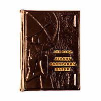 """Книга в коже Айн Рэнд """"Атлант расправил плечи"""". Цвет коричневый, фото 1"""