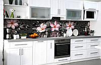 Скинали на кухню Zatarga «После дождя» 600х3000 мм виниловая 3Д наклейка кухонный фартук самоклеящаяся, фото 1