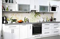 Скинали на кухню Zatarga «Оливковое настроение» 600х3000 мм виниловая 3Д наклейка кухонный фартук, фото 1