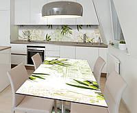 Наклейка 3Д виниловая на стол Zatarga «Оливковое настроение» 600х1200 мм для домов, квартир, столов, кофейн,, фото 1