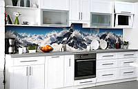 Скинали на кухню Zatarga «Покоритель вершин» 600х2500 мм виниловая 3Д наклейка кухонный фартук самоклеящаяся, фото 1