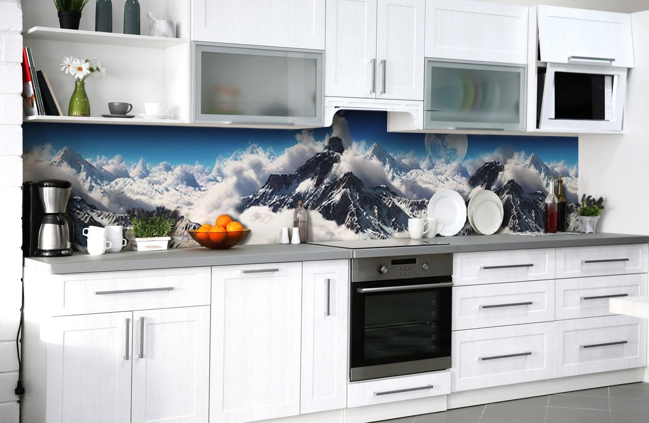 Скинали на кухню Zatarga «Покоритель вершин» 600х3000 мм виниловая 3Д наклейка кухонный фартук самоклеящаяся
