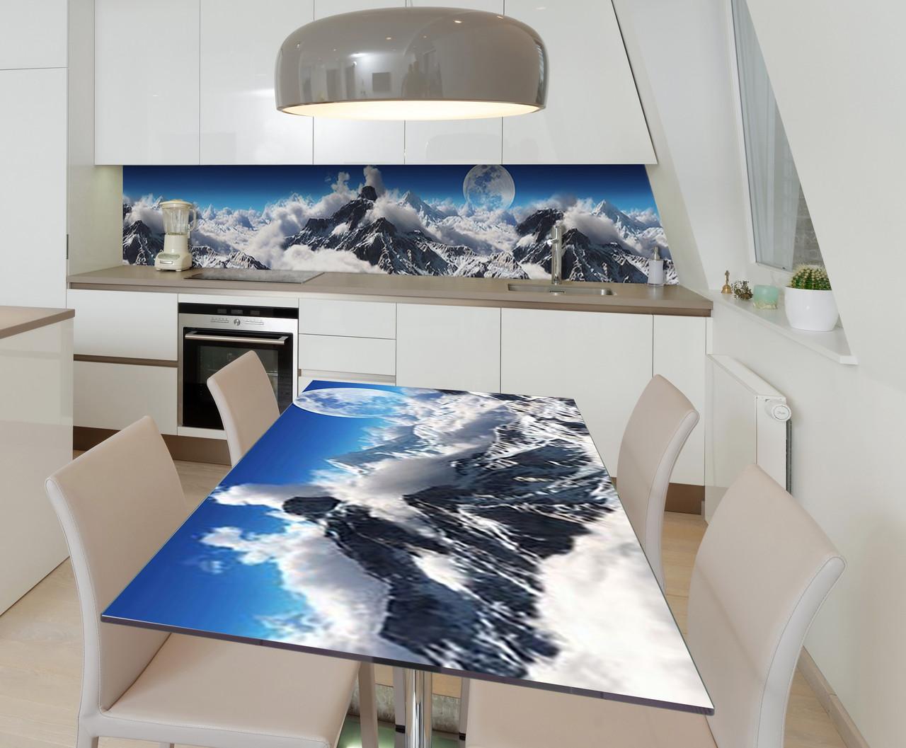 Наклейка 3Д виниловая на стол Zatarga «Покоритель вершин» 600х1200 мм для домов, квартир, столов, кофейн, кафе