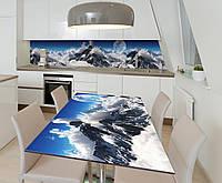 Наклейка 3Д виниловая на стол Zatarga «Покоритель вершин» 600х1200 мм для домов, квартир, столов, кофейн, кафе, фото 1