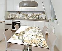 Наклейка 3Д виниловая на стол Zatarga «Шёпот города» 600х1200 мм для домов, квартир, столов, кофейн, кафе, фото 1