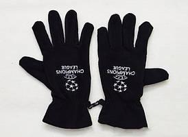 Зимние перчатки Лига Чемпионов черные