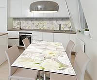 Наклейка 3Д виниловая на стол Zatarga «Кремовый бархат» 600х1200 мм для домов, квартир, столов, кофейн, кафе, фото 1