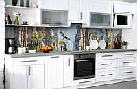 Скинали на кухню Zatarga «Каменная высь» 600х3000 мм виниловая 3Д наклейка кухонный фартук самоклеящаяся, фото 1