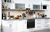 Скинали на кухню Zatarga «Шахматная церемония» 600х2500 мм виниловая 3Д наклейка кухонный фартук самоклеящаяся, фото 1