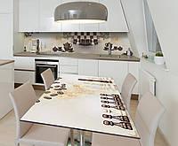 Наклейка 3Д виниловая на стол Zatarga «Шахматная церемония» 650х1200 мм для домов, квартир, столов, кофейн,, фото 1