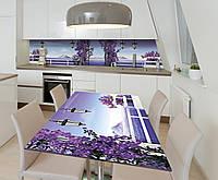 Наклейка 3Д виниловая на стол Zatarga «Лиловая сказка» 600х1200 мм для домов, квартир, столов, кофейн, кафе, фото 1