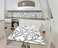 Наклейка 3Д виниловая на стол Zatarga «Утренняя песня» 600х1200 мм для домов, квартир, столов, кофейн, кафе, фото 1