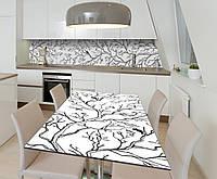 Наклейка 3Д виниловая на стол Zatarga «Утренняя песня» 650х1200 мм для домов, квартир, столов, кофейн, кафе, фото 1