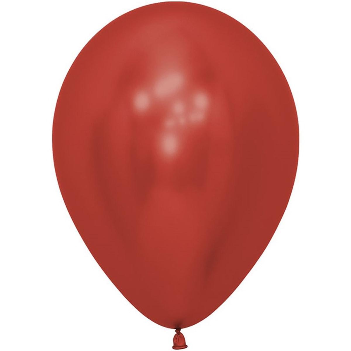 """Латексна кулька хром червоний 12"""" 30см Sempertex"""