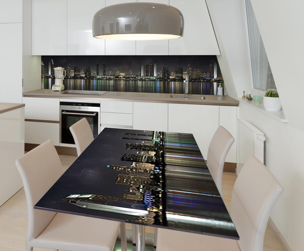 Наклейка 3Д виниловая на стол Zatarga «Огни успеха» 650х1200 мм для домов, квартир, столов, кофейн, кафе