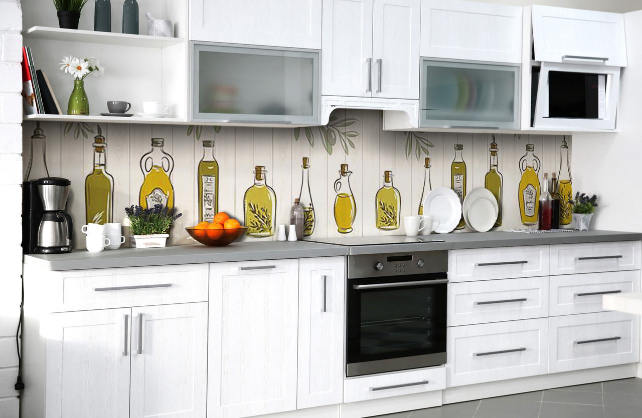 Скинали на кухню Zatarga «Музей оливы» 600х3000 мм виниловая 3Д наклейка кухонный фартук самоклеящаяся