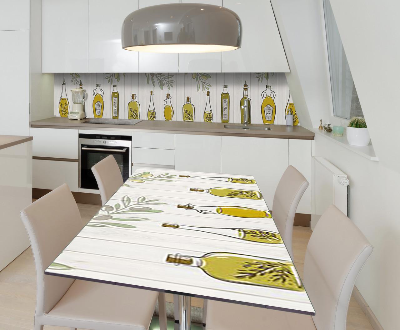 Наклейка 3Д виниловая на стол Zatarga «Музей оливы» 650х1200 мм для домов, квартир, столов, кофейн, кафе