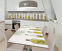 Наклейка 3Д виниловая на стол Zatarga «Музей оливы» 650х1200 мм для домов, квартир, столов, кофейн, кафе, фото 1