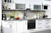 Скинали на кухню Zatarga «Бамбуковый сад» 600х2500 мм виниловая 3Д наклейка кухонный фартук самоклеящаяся, фото 1