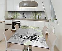 Наклейка 3Д виниловая на стол Zatarga «Бамбуковый сад» 600х1200 мм для домов, квартир, столов, кофейн, кафе, фото 1