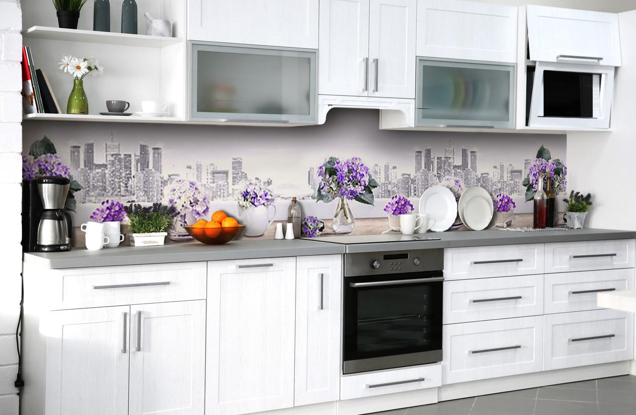 Скинали на кухню Zatarga «Грёзы Нью-Йорка» 600х2500 мм виниловая 3Д наклейка кухонный фартук самоклеящаяся