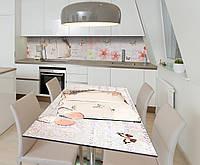 Наклейка 3Д виниловая на стол Zatarga «Порхающие мысли» 600х1200 мм для домов, квартир, столов, кофейн, кафе, фото 1