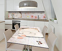 Наклейка 3Д виниловая на стол Zatarga «Порхающие мысли» 650х1200 мм для домов, квартир, столов, кофейн, кафе, фото 1