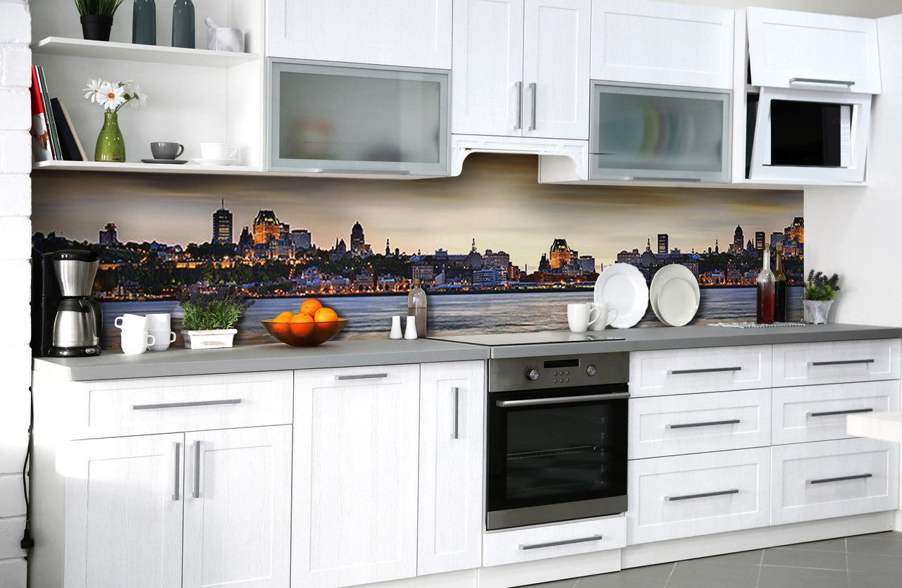 Скинали на кухню Zatarga «Вечернее обаяние» 600х3000 мм виниловая 3Д наклейка кухонный фартук самоклеящаяся