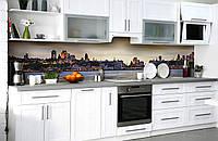 Скинали на кухню Zatarga «Вечернее обаяние» 600х3000 мм виниловая 3Д наклейка кухонный фартук самоклеящаяся, фото 1