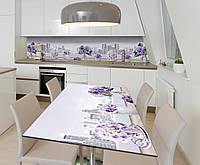 Наклейка 3Д виниловая на стол Zatarga «Грёзы Нью-Йорка» 600х1200 мм для домов, квартир, столов, кофейн, кафе, фото 1