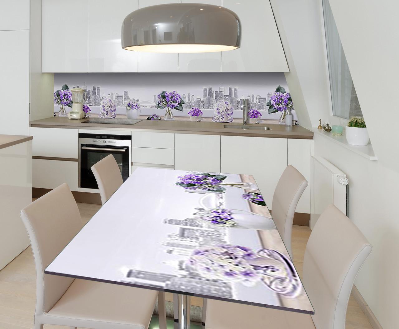 Наклейка 3Д виниловая на стол Zatarga «Грёзы Нью-Йорка» 650х1200 мм для домов, квартир, столов, кофейн, кафе