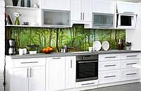 Скинали на кухню Zatarga «Таинсвенный лес» 600х3000 мм виниловая 3Д наклейка кухонный фартук самоклеящаяся, фото 1