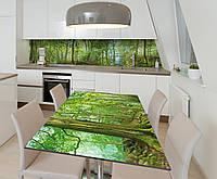 Наклейка 3Д виниловая на стол Zatarga «Таинсвенный лес» 650х1200 мм для домов, квартир, столов, кофейн, кафе, фото 1