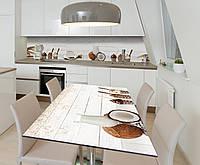 Наклейка 3Д виниловая на стол Zatarga «Кокосовое утро» 600х1200 мм для домов, квартир, столов, кофейн, кафе, фото 1