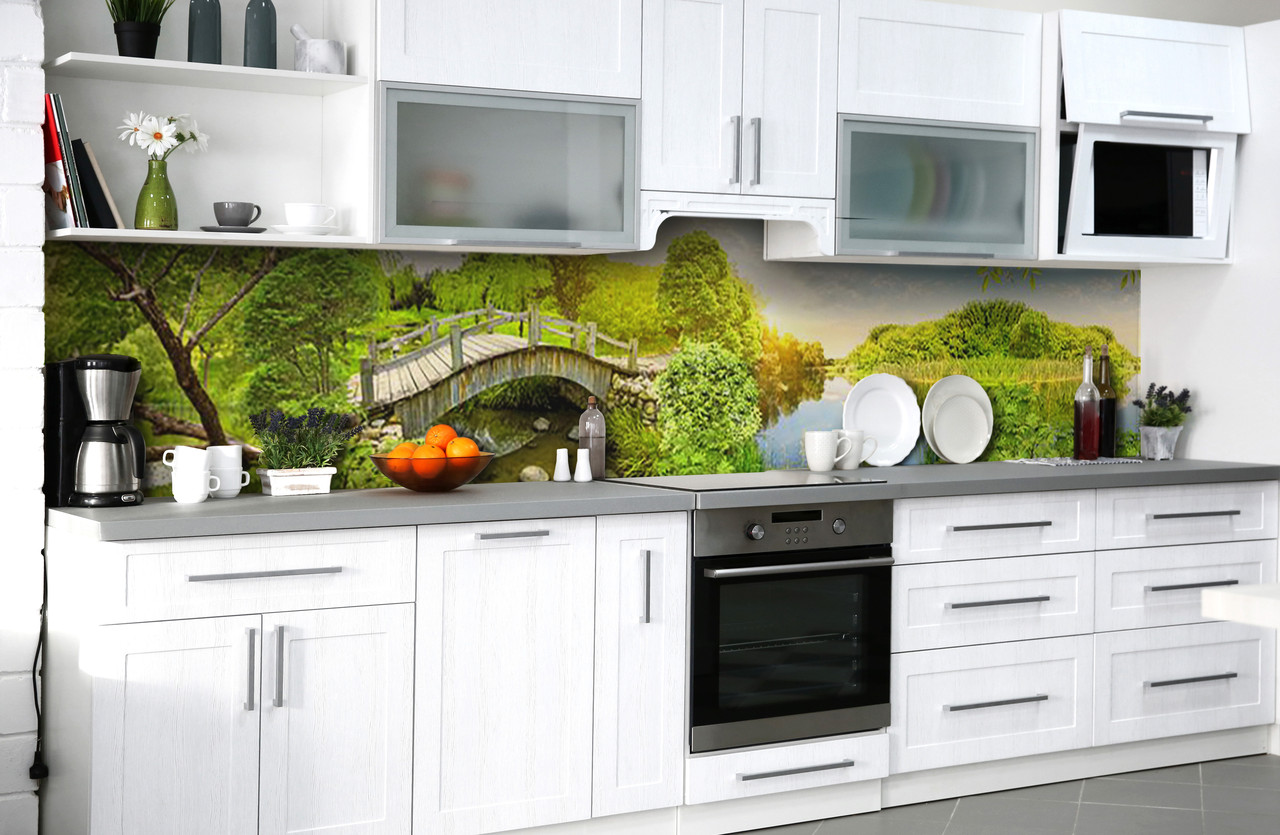 Скинали на кухню Zatarga «Деревенкая радость» 600х2500 мм виниловая 3Д наклейка кухонный фартук самоклеящаяся