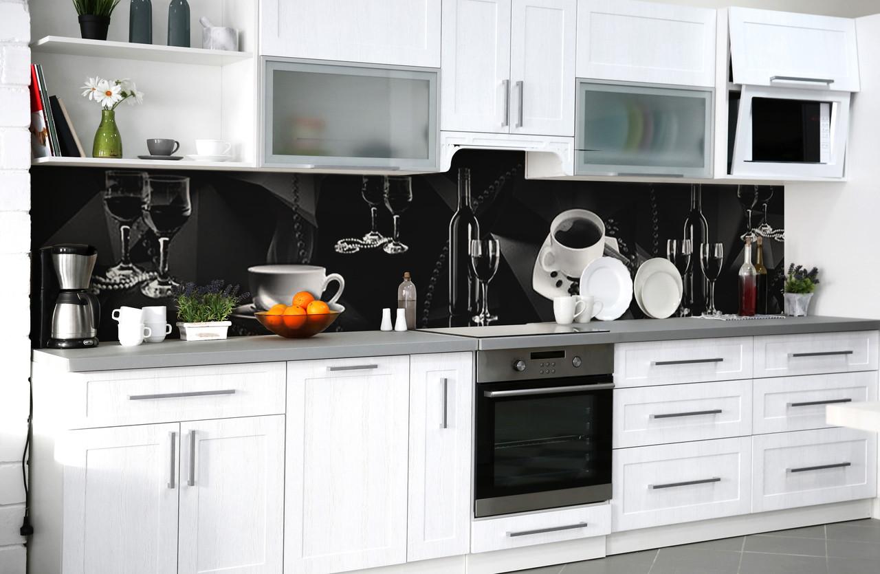 Скинали на кухню Zatarga «Тёмная роскошь» 600х3000 мм виниловая 3Д наклейка кухонный фартук самоклеящаяся